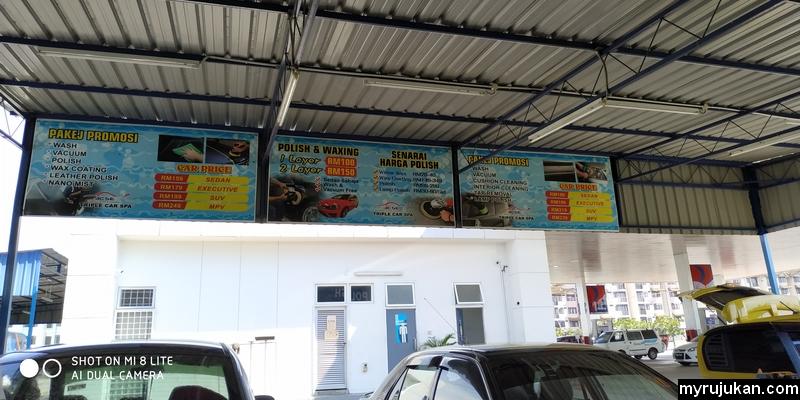 Pakej promosi servis perkhidmatan kedai cuci kereta