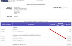 Paparan penyata pinjaman ptptn di website PTPTN online