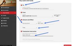 Proses pembayaran kad kredit cimb bank di website CIMB clicks