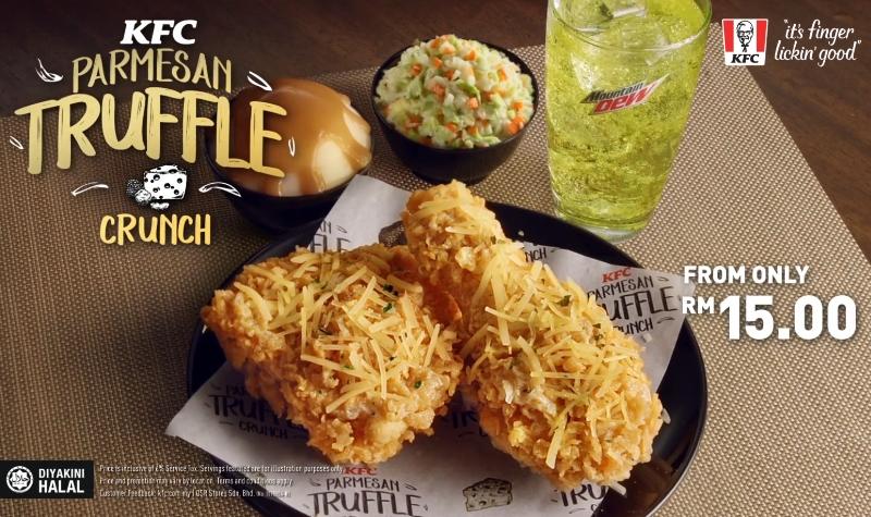 Satu set hidangan KFC Parmesan Truffle Crunch dari website KFC Malaysia