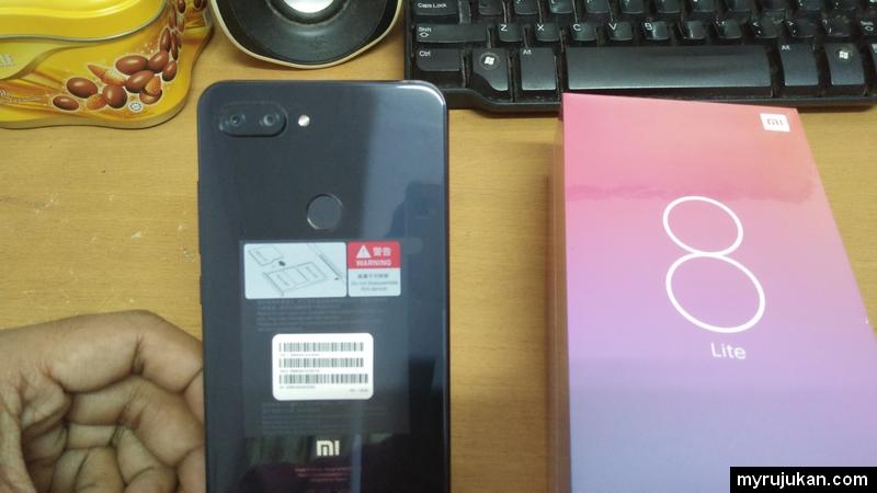 Xiaomi Mi 8 Lite menggunakan 12MP+5MP untuk kamera belakang