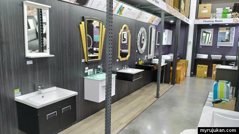 Pelbagai jenis rekaan sinki dapur dan bilik air ada dijual di HomePro
