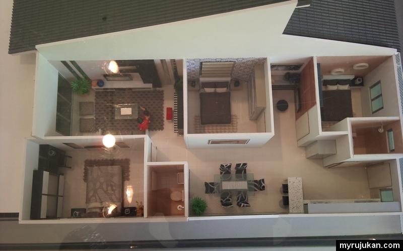 Reka bentuk model rumah yang dijual di Bandar Seri Impian
