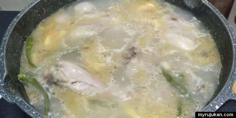 Resepi ayam masak sup yang paling ringkas