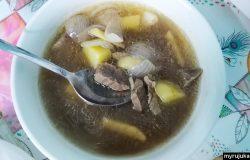 Resepi cara membuat sup daging sedap yang ringkas