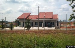 Salah satu rumah di Bandar Seri Impian ketika dalam pembinaan