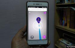 Sila arahkan kamera anda pada gambar kaabah ketika menggunakan Qibla Finder