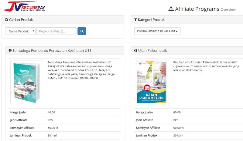 program affiliate percuma berbentuk ebook kerja kerajaan