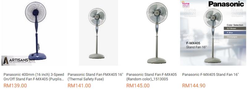 Anda boleh dapatkan kipas yang sama dengan harga bawah RM150 adalah sebab kenapa Lazada murah