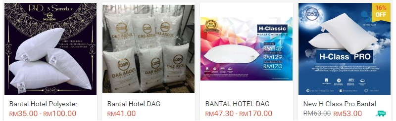 Bantal kualiti hotel jenama Das Abdul