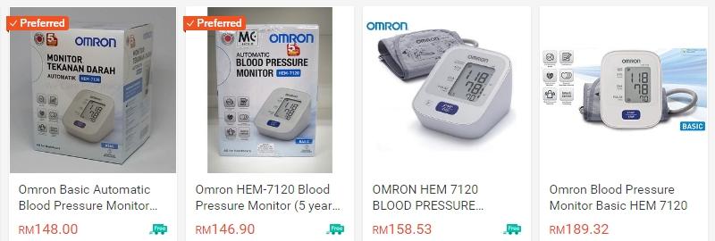 Beli dan dapatkan blood pressure monitor secara online