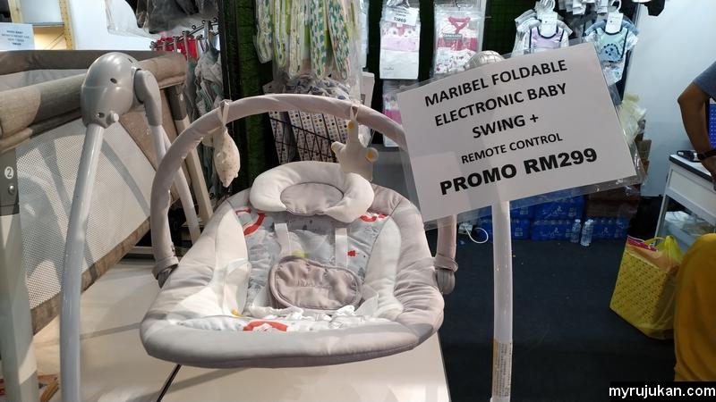Buaian baby jenis elektrik dan moden ada dijual di expo baby