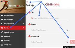 Cara beli topup prepaid di CIMB Clicks