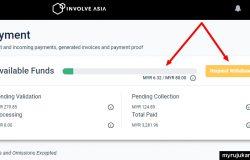 Cara keluarkan duit dari Involve Asia