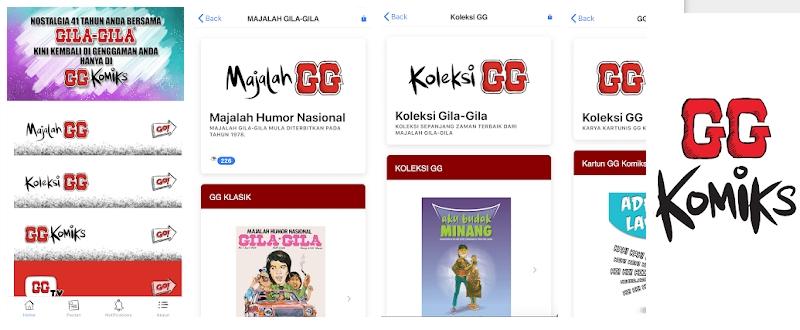 App majalah gila gila untuk smartphone