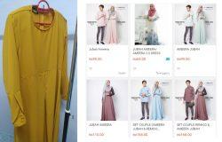 Beli dan dapatkan baju jubah hari raya secara online