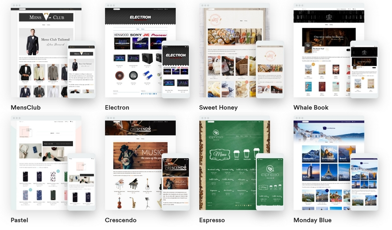 Contoh rupa bentuk kedai online website e-commerce dari Easystore