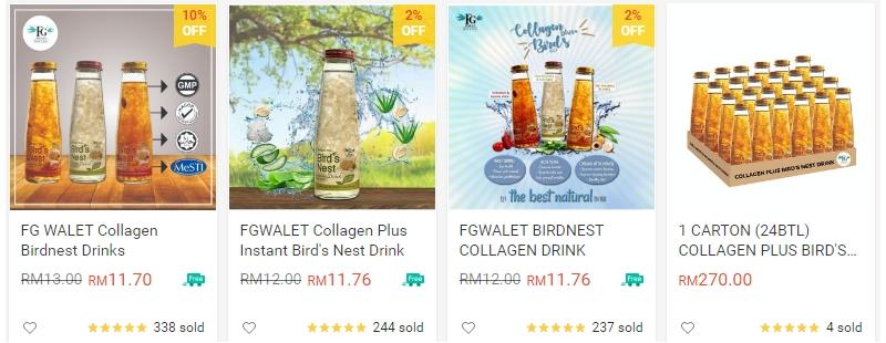 Dapatkan air minuman sarang burung Fouziah Gous