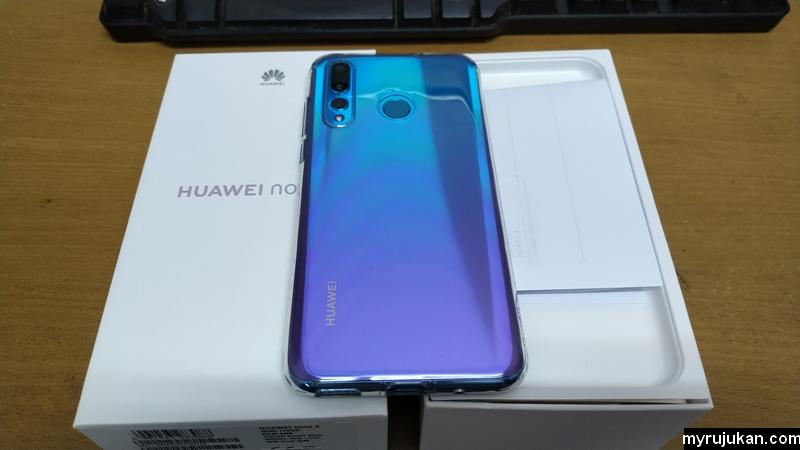Pandangan belakang Huawei Nova 4