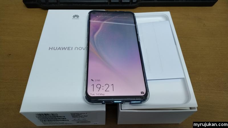Pandangan hadapan Huawei Nova 4
