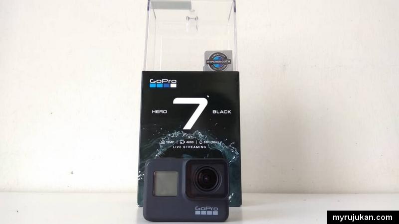 Paparan hadapan GoPro Hero 7 Black Edition