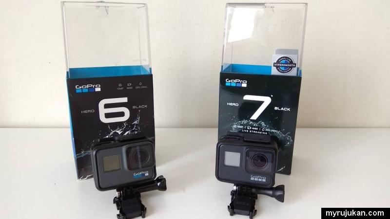 Perbezaan GoPro Hero 6 dan GoPro Hero 7
