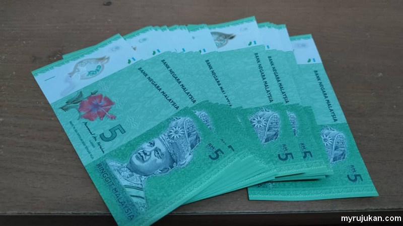 Tukar duit raya RM5 di Maybank