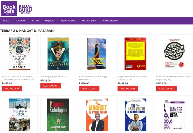 Website kedai buku online bookcafe