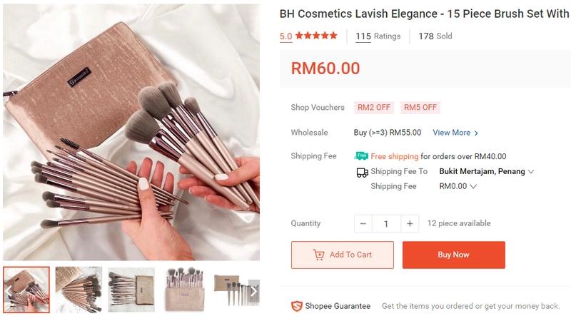 Beli berus alat solek makeup kosmetik dari Shopee Malaysia