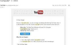Email YouTube copyright claim sebab ada lagu musik hak cipta