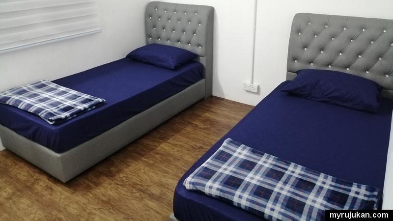 Bilik kedua menawarkan 2 katil single