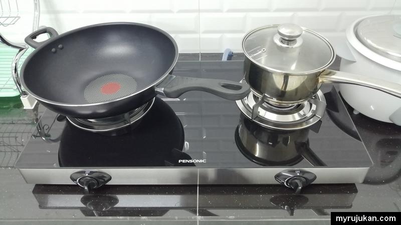 Peralatan memasak di Aqil Homestay serba lengkap