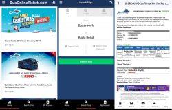 Beli tiket bas ekspress online melalui apps smartphone