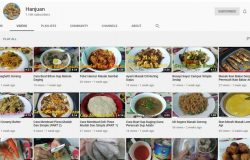 YouTube channel memasak Hanjuan