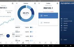 Paparan dashboard dalam aplikasi app Wahed Invest