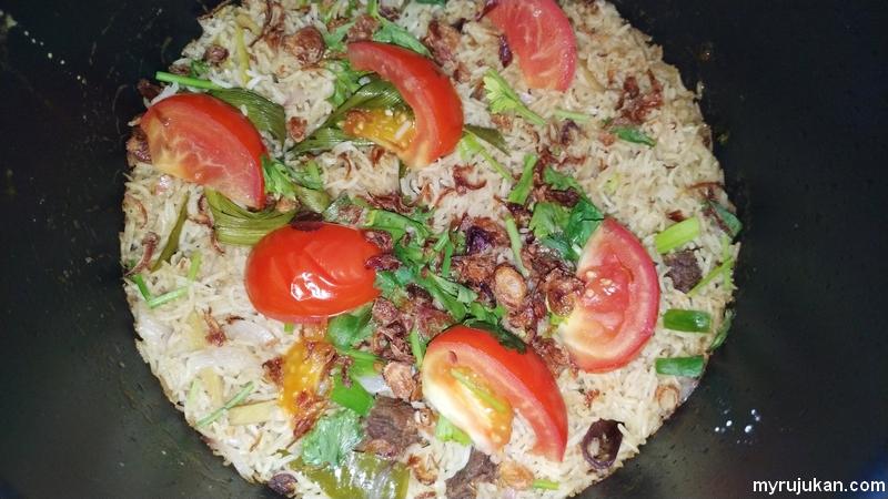 Pengalaman masak nasi daging dengan periuk tekanan tinggi Noxxa
