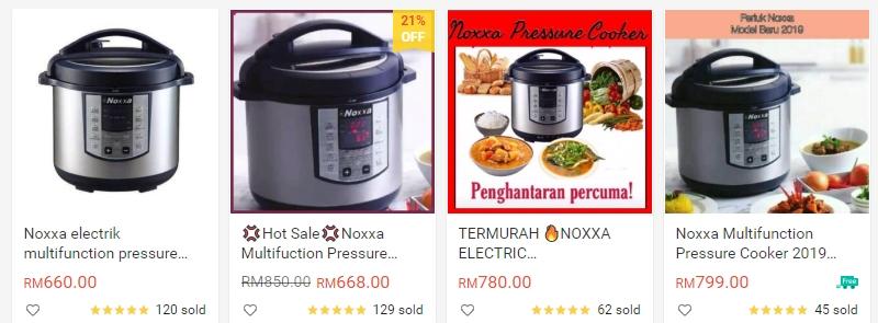 Beli dan dapatkan Noxxa pressure cooker secara online