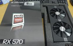 Kad grafik AMD Radeon RX 570 dari Shopee sudah sampai
