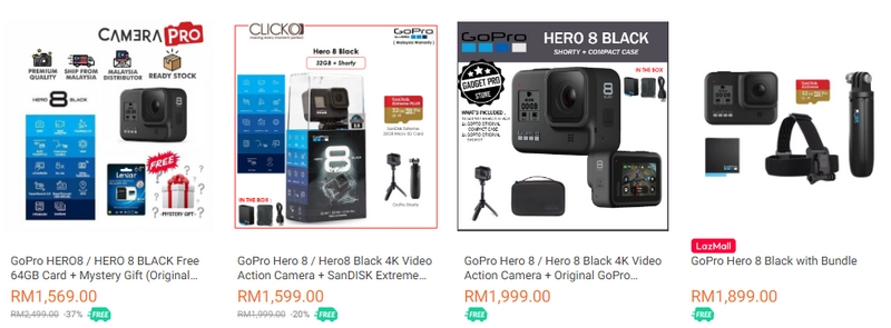 GoPro Hero 8 Dijual Rasmi Di Lazada