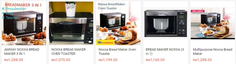 Noxxa bread maker oven toaster di Shopee