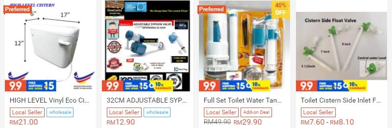 Dapatkan pelbagai alat ganti toilet secara online di Shopee
