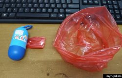 beg plastik sampah untuk buang lampin pakai buang bayi