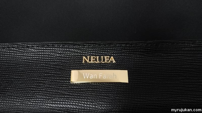 boleh tulis nama sendiri pada plat handbeg Neufa