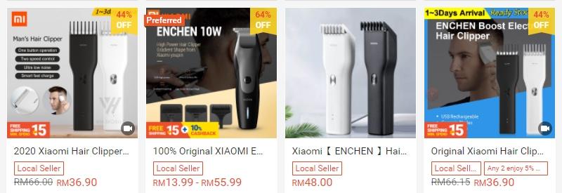 Xiaomi Enchen Hair Clipper boleh anda beli di Shopee