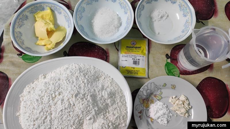 Bahan bahan asas membuat roti buku