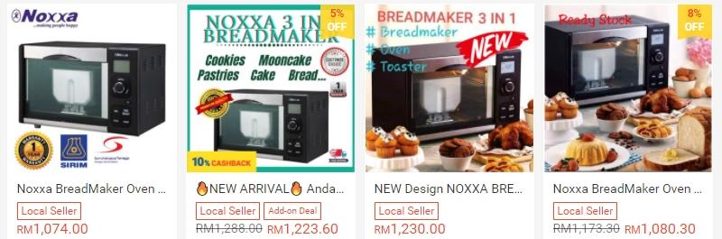 Noxxa Breadmaker Oven Untuk Membuat Roti