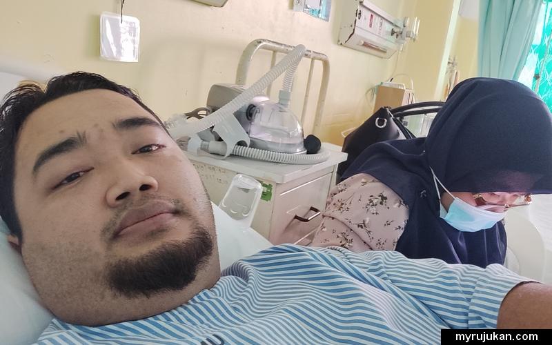 Masuk wad hospital untuk menjalani pembedahan mastoid