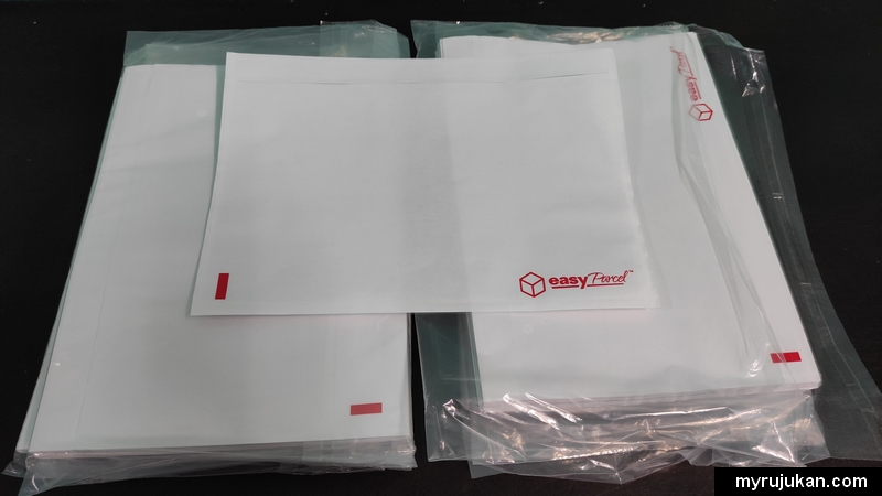 Sampul jenis transparent Easyparcel