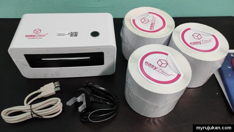 printer dan sampul Easyparcel