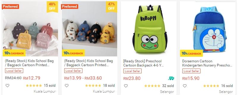 Anda boleh dapatkan beg baju baby anak anda di Shopee
